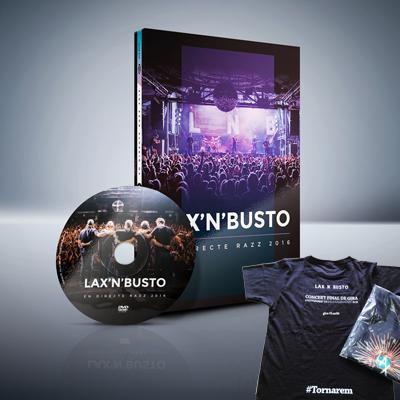 Lax'n'Busto - DVD En Directe Razz 2016 + Samarreta del Concert