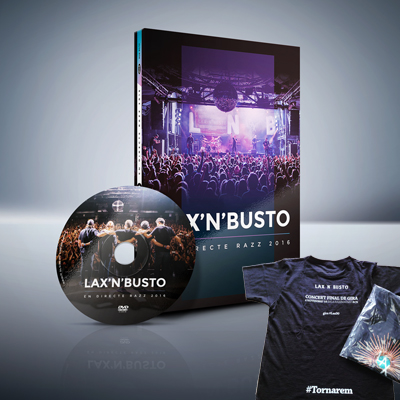 Lax'n'Busto - En Directe Razz 2016 (DVD) + Samarreta del Concert